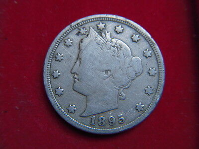 A Scarce 1895 Five Cent Coin From The United States