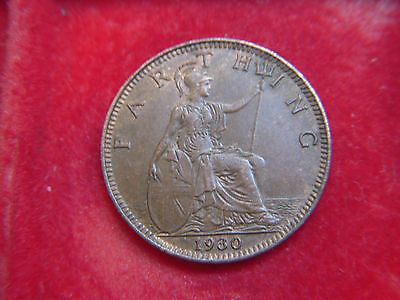 1930 George V Farthing In A Very  High Grade With Mint Lustre
