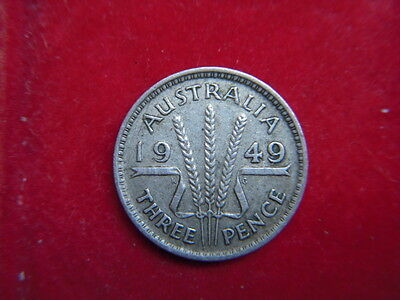 1949 George V1 Threepence From Australia