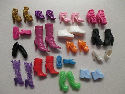 LARGE LOT of barbie doll shoes & boots 16 PAIRS lot #8