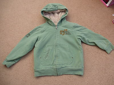 Girls Next Hoodie Padded Lined Green Size 8 Years Cardigan Jacket