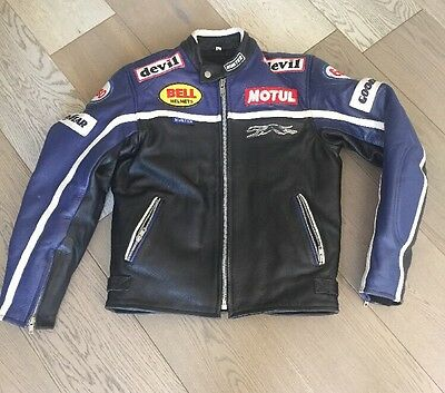 Women's Hunter Leather Motorcycle Jacket - medium
