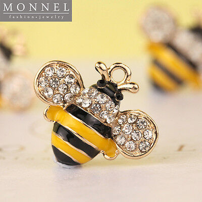 H290 Cute Crystal BEE Pendant Charm Wholesale (3pcs)
