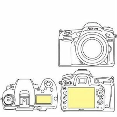 Martin Fields Overlay Plus Screen Protector Nikon D7200 / D7100 - Includes Top
