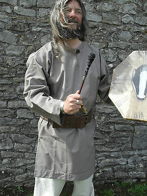 Medieval Style Tunic Top,  Re-enactment Viking, LARP, Freesize, Grey.