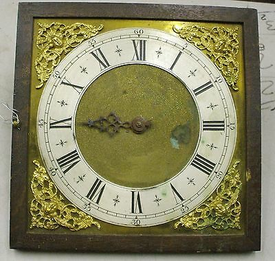 Unusual Heavy Brass Clock Dial With Slave Movement For Electric Master Clock