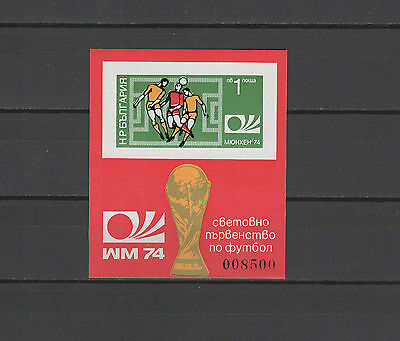 Football Soccer World Cup 1974 Bulgaria s/s imperf. MNH