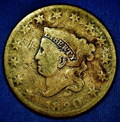 1820 Large Cent Coronet Head Variety