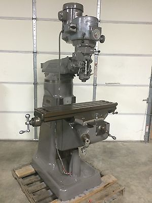 Bridgeport 9x36 Vertical Milling Machine Variable Speed 1.5hp Knee Type
