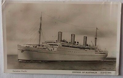 Malta 1951 S. S. Empress Of Australia Post Card To Middle East Forces Field Post