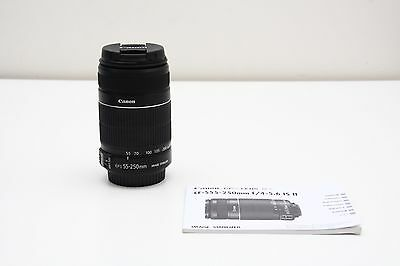 Canon EF-S 55-250mm f/4.0-5.6 IS DSLR Zoom Lens *** SUPERB CONDITION ***