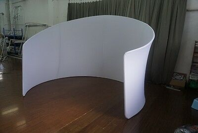 Curved Backdrop 3m x 3m suitable for Expo, Photo Booth Enclosure, Display Stand