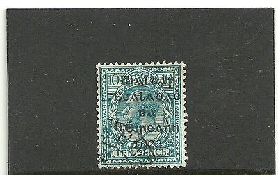Ireland,1922 10d turquoise-blue o/printed, fine used
