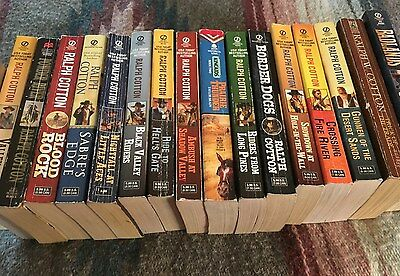 Lot Of 16 Ralph Cotton Paperback Westerns, 1993 - 2010