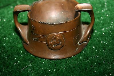 Antique Arts & Crafts Copper Benedict 1229 Ajax Trojan Soldier Ashtray Cup