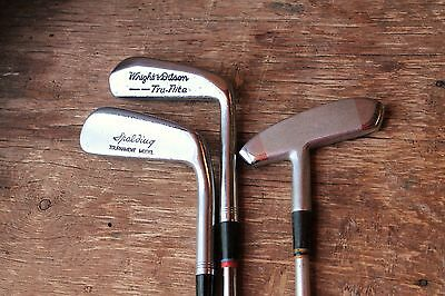 Three Vintage Blade Putters Lot Wright & Ditson LL Spalding Aluminum Shaft