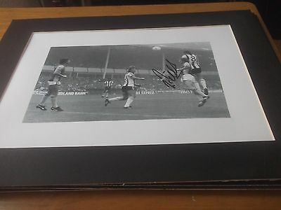 Signed Mount Of Iain Mcculloch Notts County  11X14 Inches