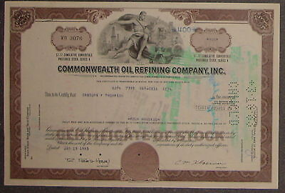 Commonwealth Oil Refining Company, Inc.1983 400 Shares