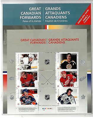 #2941 S/S, * Canada mint sealed pane of 6 great Canadian forwards,
