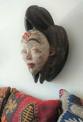 Punu Tribal Mask from Gabon, Africa.