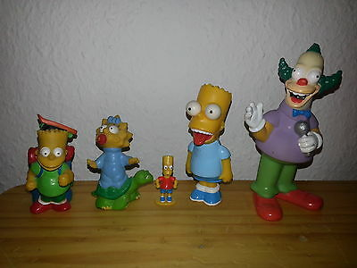 ♫♫ 5 Simpsons-Figuren ♫♫ 3 x Bart Simpson ♫♫ Maggie ♫♫ Clown Krusty ♫♫