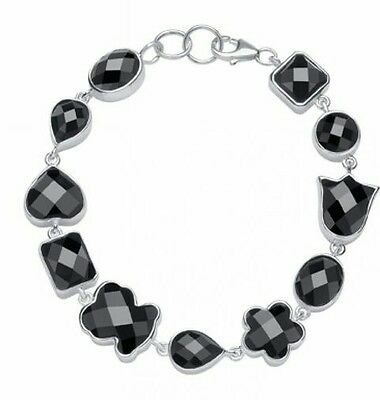 TOUS STERLING SILVER AND ONIX BRACELET Pulsera Tous Plata 1ª Ley y onix
