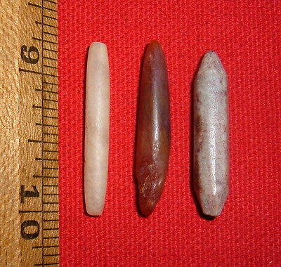 (3) Fine Sahara Neolithic Stone Plugs/Labrets, Prehistoric African Artifacts