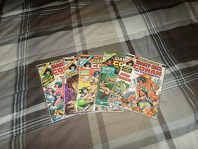 Giant Size Conan The Barbarian #1 2 3 4 5 (#1-5) - Very Good - Bronze Age!