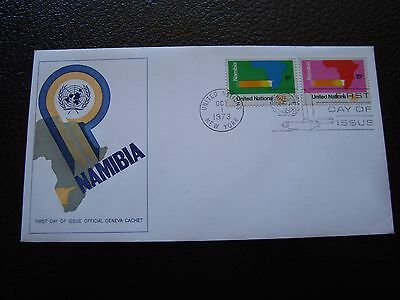 NATIONS-UNIES (new york) - enveloppe 1er jour 1/10/1973 (B7) united nations (A)