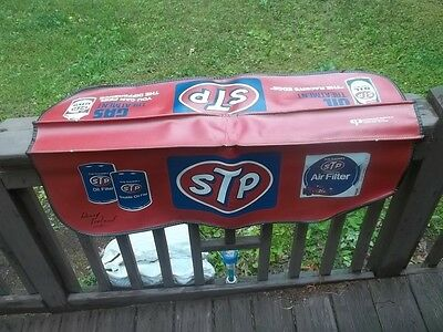 Vintage STP Gas & Oil Treatment Mechanics Car Fender Cover Protector