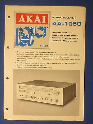Akai Aa-1050 Receiver Sales Brochure Original Factory Issue The Real Thing