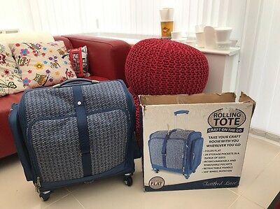 Tattered Lace Rolling Tote Case NEW