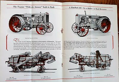 1920's The Baker Line Gas Tractors Steam Engines Grain Threshers Sales Book
