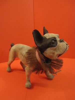 All Original French Bulldog With Growler Pull Along Toy 1950