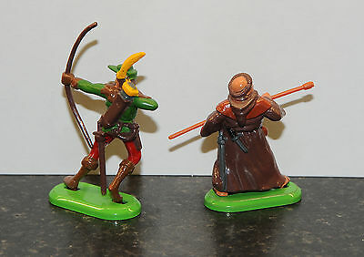 Britains Deetail Robin Hood & Friar Tuck Sherwood Forest toy figures