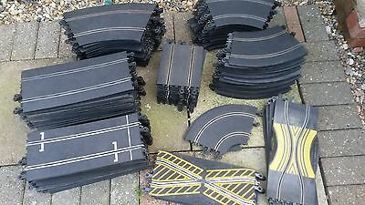 Large Selection Of Scalextric Vintage Classic Track Pieces Job Lot