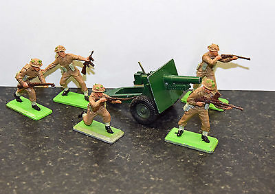 Britains Deetail Infantry Toy Soldiers with Cannon