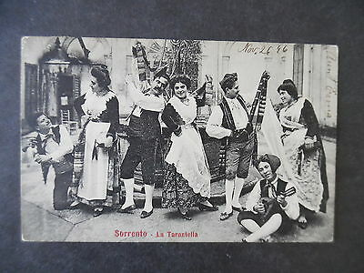 1906 Sorrento Italy Native Type Dancers Postcard Used to US