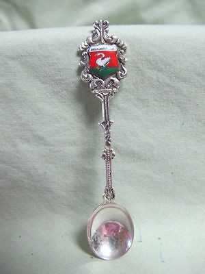 Vintage Silver Plate Enamel  Souvenir Spoon  - Broek in Waterland