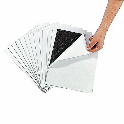 """12 Magnetic Sheets of 8.5"""" X 11"""" Adhesive Magnet Peel & Stick"""