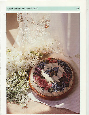 Floral Footstool Royal School Needlework Tapestry Needlepoint Chart in Colour