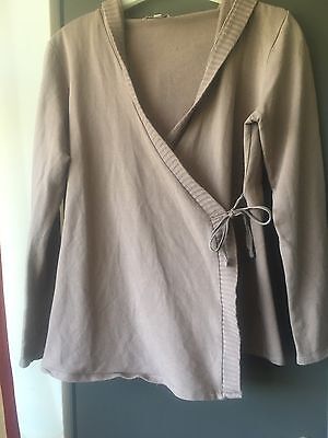 Verbaudet wrap around hooded cardigan hoody top maternity size 10/12.
