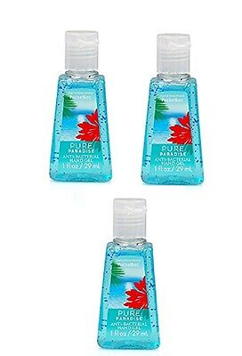Bath & Body Works PURE PARADISE Pocketbac Anti-Bacterial Hand Gel Sanitizer x 3