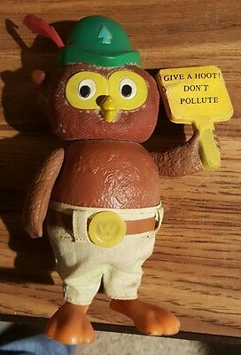 Rare Vintage Woodsy Owl Don't Pollute R. Dakin Hong Kong Made Figurine Plastic