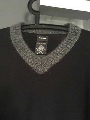 Pull Homme Diesel Noir Taille M Comme Neuf