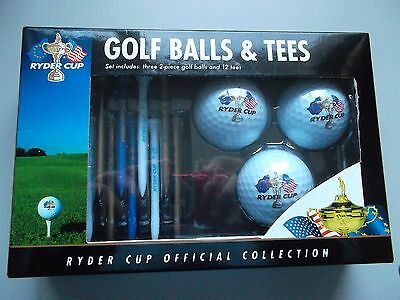 Ryder Cup Official Collection golf balls and tees