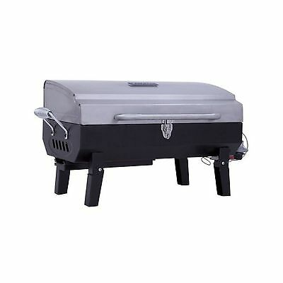 """Char-Broil Stainless Steel Gas Tabletop Grill Black 24.75"""" w x 14.7"""" d x 14"""" h"""