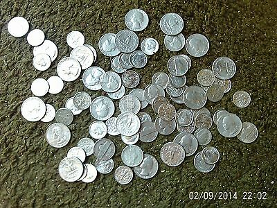 A Large Lot Of Usa Coins (No Cents)