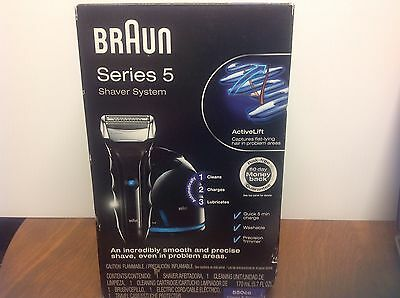 Braun Series 5 550cc Electric Shaver System, Black and Silver