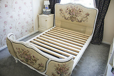 French Antique Double Corbeille Bed Vintage Curved